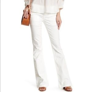 JOIE WHITE BELL BOTTOM COTTON DRESS PANTS